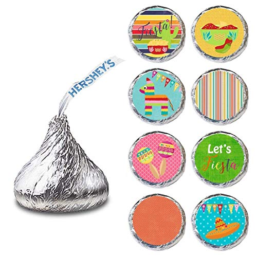 Fiesta Label for HERSHEY'S KISSES® chocolates - Cinco De Mayo Festival Party Stickers - Set of 240