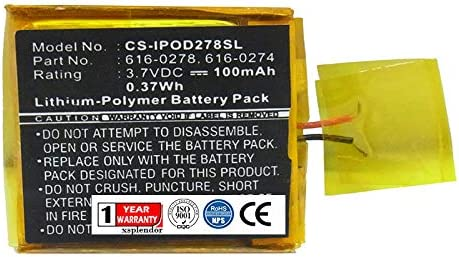 XPS Replacement Battery Compatible with 2021new shipping Wholesale free Shuffle Apple 1G iPod G2