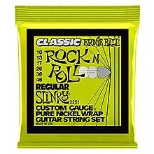 Calibres:10 - 13 - 17 - 26 - 36 - 46 Entorchado de níquel puro Núcleo de acero hexagonal Envasadas en bolsa hermética Cuerdas adecuado para recrear los sonidos imperantes en los '60
