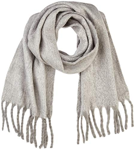 VERO MODA Damen VMCARLA LONG SCARF NOOS Schal, Grau Medium Grey Melange, One Size