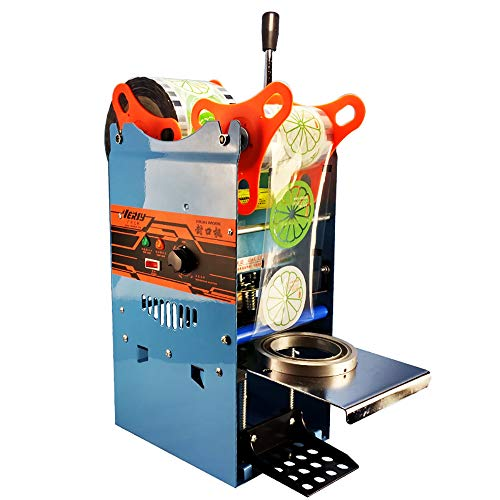 Manual Cup Sealing Machine 300-500 Cups/Hour Electric Cup Sealer for 180mm Tall &95mm Diameter Cup (110V)