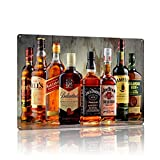 MMOUNT Whiskey Vintage Tin Signs Beer Sign Wall Decoration Gift Garage Liquor Sign 12X8Inch