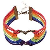 Infinity Collection LGBT Bracelet, Lesbian Pride Jewelry, Rainbow Pride Bracelet & Perfect Lesbian Gifts