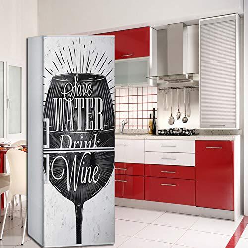 Lee My Bicchiere di Vino Creativo Creativo Adesivi, Autoadesivo Adesivi Frigo Adesivi Impermeabile,60Cmx180cm,60x150cm/23.6x59