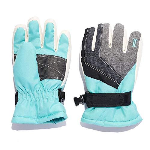 Igloos Girls Taslon Sprawl Blocked Waterproof Ski Gloves - Insulated for Cold Winter Weather