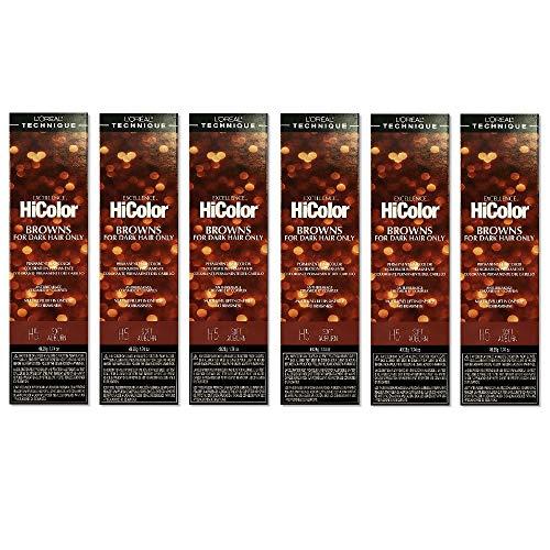 L'Oreal Excellence HiColor H5 Soft Auburn Permanent Tint HC-05111 (6...