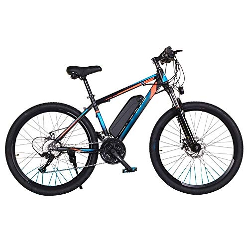 ZLDAN Adult Mountain Bike Variable Speed Electric Bicycle Lithium Power (Color : Blue)