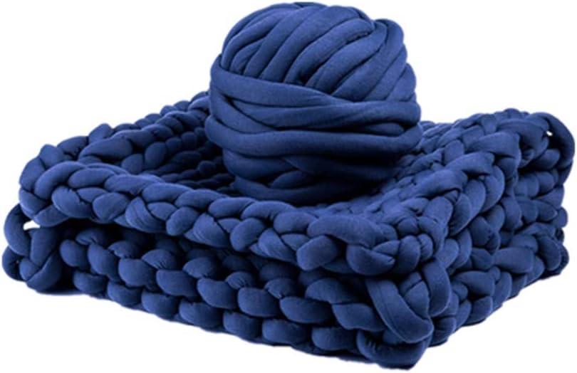 3.3LB Navy Chunky Braid Regular discount Cheap sale Cotton Tube Quick Knitting for Yarn Easy