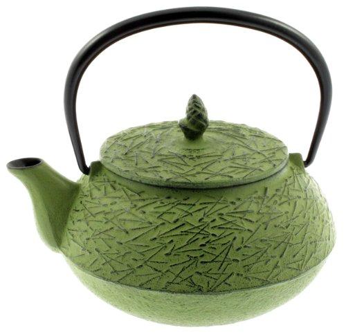 Iwachu Iron Teapot Tetsubin, Green Pine Needle