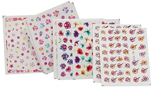 Gespout 9PCS Nail Art Autocollant Deco Nail Art Lot Stickers Pour Ongles Nail Outils Artistiques Différents Modèles
