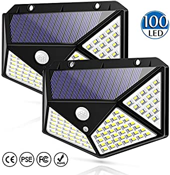 Sunshine Solar 100 LED Waterproof Outdoor Wall Night Light