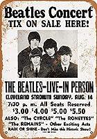 なまけ者雑貨屋 Beatles at Cleveland Stadium メタルプレート レトロ アメリカン ブリキ 看板 バー ビール おしゃれ インテリア