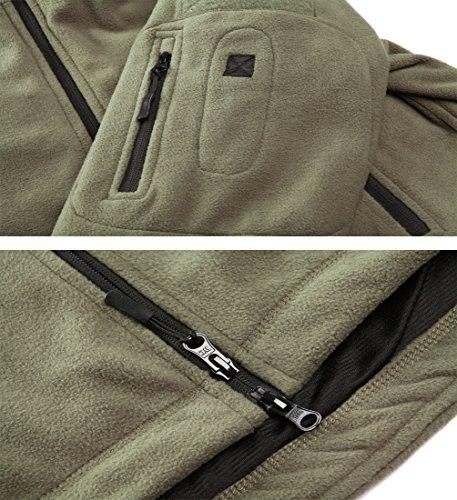MAGCOMSEN Men 's Windproof Warm Military Tactical Fleece Jacket Green M