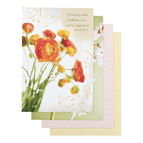 DaySpring - Inspirational Boxed Cards - Get Well - Floral - 74861