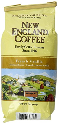 Freshly Ground New England Coffee, French Vanilla, 11 oz Bag