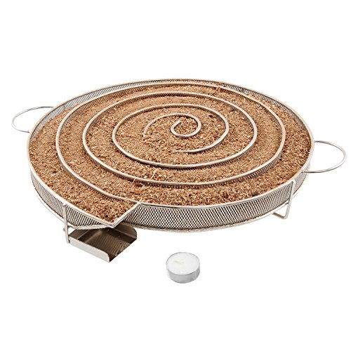 Realcook 13.78 inch Cold Smoke Generator for BBQ Grill or Smoker Wood dust Hot and Cold Smoking Salmon Meat Burn Time up to 18-24 Hours