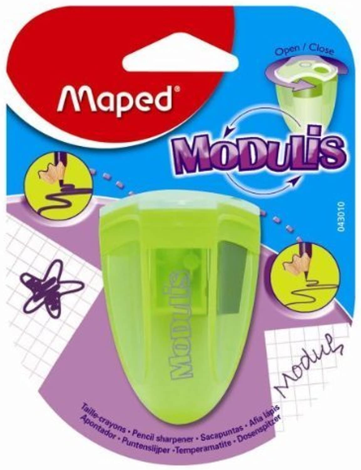 Maped Modulis 2-Hole Metal Pencil Sharpener, Produces Produces Produces Sharp or Rounded Point, Assorted Farbes (043010TA) by Maped B018OQDVBG | Die erste Reihe von umfassenden Spezifikationen für Kunden