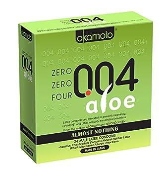 Okamoto 004 Aloe Condoms 24 Count