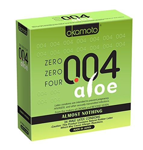 Okamoto 004 Aloe Condom Box, 24Count