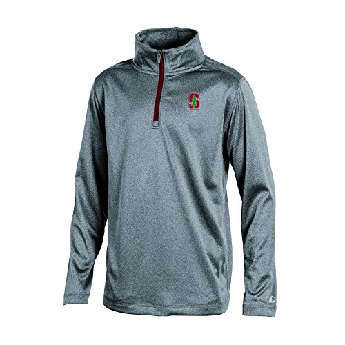 CHAMPION NCAA Jungen Lange Ärmel Synthetik Quarter Zip Jacke, Jugendliche Jungen, NCAA Boy's Long Sleeve Synthetic Quarter Zip, Gray Heather, Large