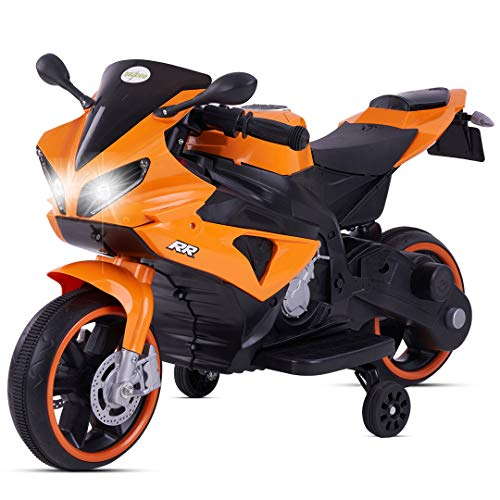 Baybee Mini R1 Rechargeable Battery Operated Ride-on Bike and Baby Ride on/Kids Ride on Toys -Kids Bike - Baby Bike for Kids to Drive Toy Scooter Suitable for Boys & Girls Age 1-4 Years (Orange)
