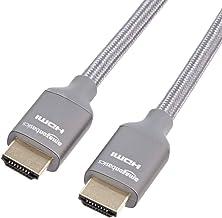 AmazonBasics Premium 48Gbps High-Speed 8K HDMI Cable, Dark Gray - 3 Feet
