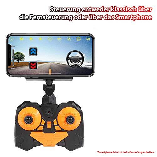 RC Ferngesteuerter Off-Road Crawler, eingebaute FPV WiFi Kamera mit Live Übertragung auf Smartphone, Kletterfahrzeug Gelände Fahrzeug, Komplett-Set inkl. 2.4 GHz Fernsteuerung und Akku