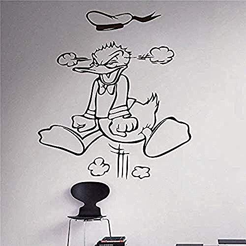 Wall Stickers Angry Duck Wall Stickers Children's Small Room Home Decoration Wall Stickers 58X65Cm