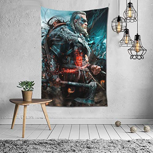Delicious Lollipop As-Sass-In'S Lucky C-Reed Val-Hal-La Tapestry Wall Hanging Tapestry for Living Room Bedroom Dorm Home Decor 6040inch,Black,One Size