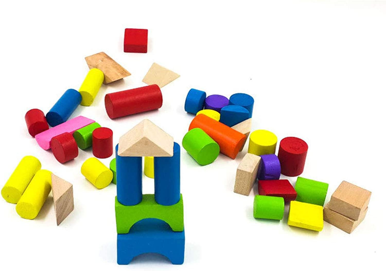 Peggy Gu Hölzerne Tangram Ziegelsteine für Kinder 40 Holzblöcke für Kinder zum BAU von Holzspielzeug eingerichtet Denksportaufgaben Spielzeug Pädagogische frühe B07L2LTTDF Qualität und Quantität garantiert  | Hat einen langen