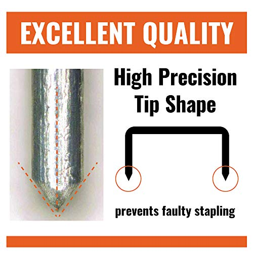 """Max 35-5M Standard Staples for USA; Leg Length 6mm (1/4""""); 100 Staples per Stick, for Use with Max HD-50, HD-50R, HD-50F and other Standard Staplers, 0.25"""" Leg Length, 0.5"""" Crown Width, 5000 Count Photo #5"""