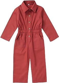 بدلة بأكمام طويلة طويلة للأطفال الصغار البنات الصغار أزياء طية صدر السترة بأزرار إجمالية 1-5 T