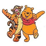 Disney Winnie the Pooh & Tiger Decorative Iron-On Patch 7.5 x 6.3 cm
