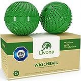 2 x Original Livona® Waschball [TÜV-GEPRÜFT] - Öko Waschkugel - Waschen ohne Waschmittel - nachhaltig & umweltfreundlich - Vorteilspack - hohe Qualität für Allergiker, Kinder und Umweltbewusste