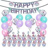 shengping Paquete De Fiesta Mermaid Shell Symphony Birthday Theme Paquete De Fiesta Suministros De DecoracióN