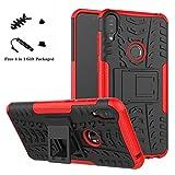 LiuShan Protettiva Shockproof Rigida Dual Layer Resistente agli Urti con cavalletto Caso per ASUS Zenfone Max PRO M1 ZB601KL / ZB602K Smartphone,Rosso