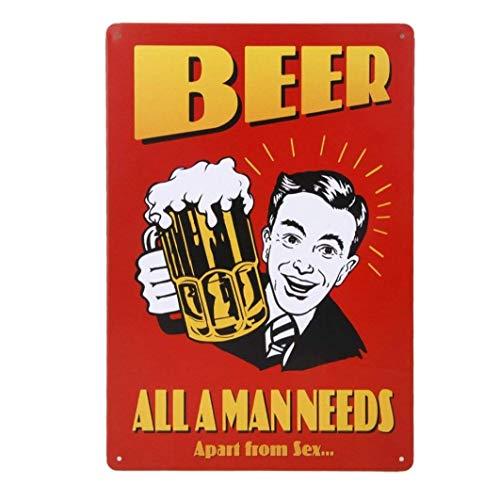 linjunddd 20x30cm Vintage-Metall Zinn Wandschild Plaque-Plakat Für Café Bar Pub Bier 11 Komfortable Versorgung