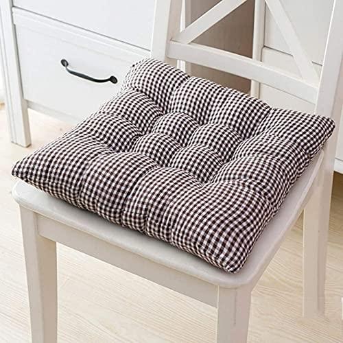 JYHJ Juego de 4 cojines de asiento, antideslizantes, de lino y algodón, transpirable, acolchados, ultra suaves, para cocina y comedor, varios colores, 4 unidades, 50 x 50 x 7 cm