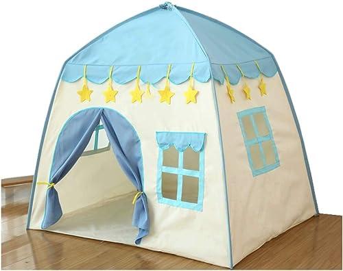 XIAO&Z Kinder Spielzelt Kinderschloss Burg Prinzessin Prinz Spielhaus für Drinnen Draußen, Ammer Nachtlicht