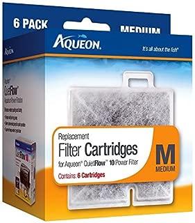 Aqueon Replacement Filter Cartridges (Medium; Pack of 6 cartridges; For Aqueon QuietFlow 10) by Aqueon