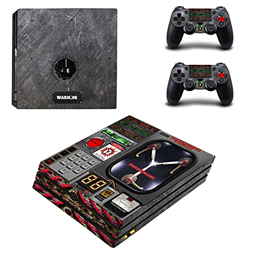 AXDNH Etiqueta Engomada De La Cubierta De Vinilo De La Etiqueta PS4 Pro Skin PS4 Pro para Consola PS4 Pro + Juego De Pegatinas De Piel De 2 Controladores, para Playstation 4 Pro Skin,0148