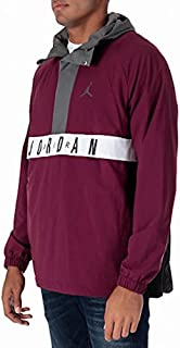 NIKE Mens Air Jordan Anorak Wings Jacket Size Large Bordeaux