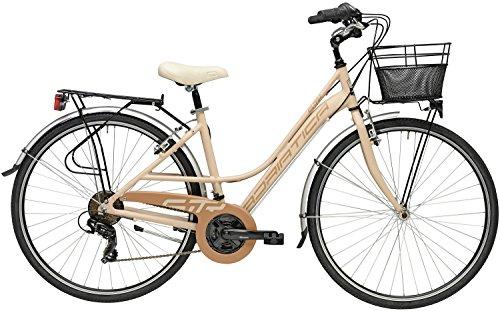 Cicli Adriatica Bicicletta Sity 3 da Donna, Telaio in Alluminio, Ruota da 28', Cambio Shimano, Taglia 45, Tre Colori Disponibili (Rosa Cipria, Cambio a 18 velocità)