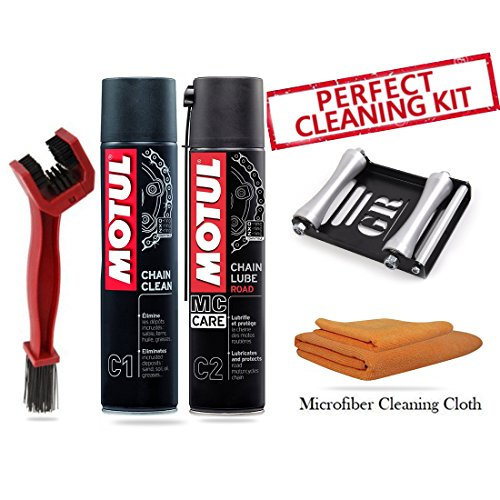 GrandPitstop BRC1C2400RollerLMFA-M Motul C1 and C2 and Paddock Stand Replacement GRoller, Large and Microfiber Cloth (5-Pieces, 400 ml)
