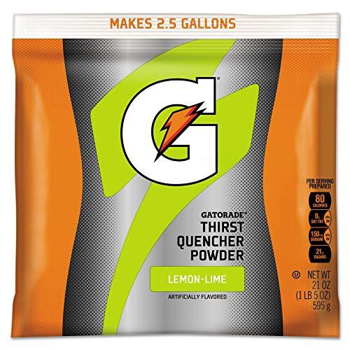 게토레이 03969 21 온스. G2 저칼로리 가루 음료 믹스(레몬-라임)(32 팩)