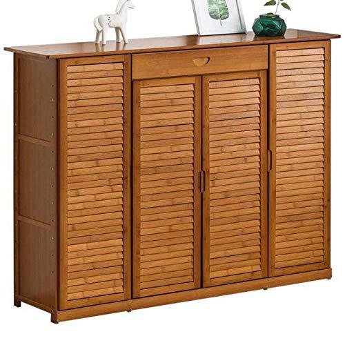 Zapatero dom¨¦stico zapato de almacenamiento de puerta de armario multicapa tipo econ¨mico dormitorio de madera maciza - amarillo