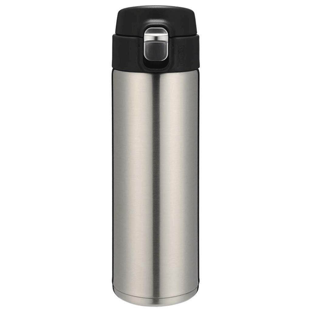 SHYPT ステンレス製のコーヒー旅行マグ、真空断熱ウォーターボトル魔法瓶フラスコカップ (Color : A)
