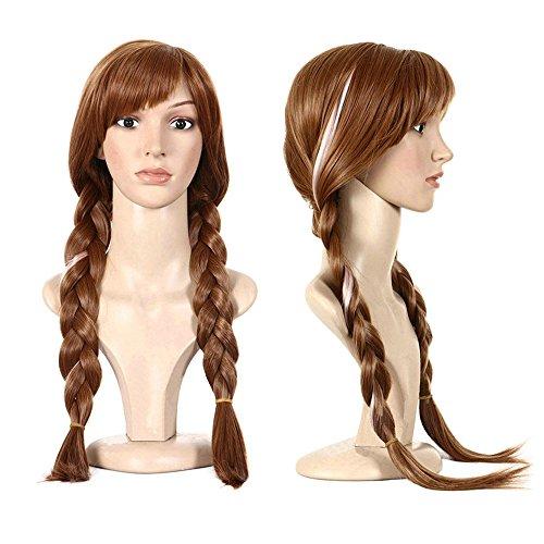 serliy - Perücken & Haarteile für Erwachsene in braun, Größe 70cm