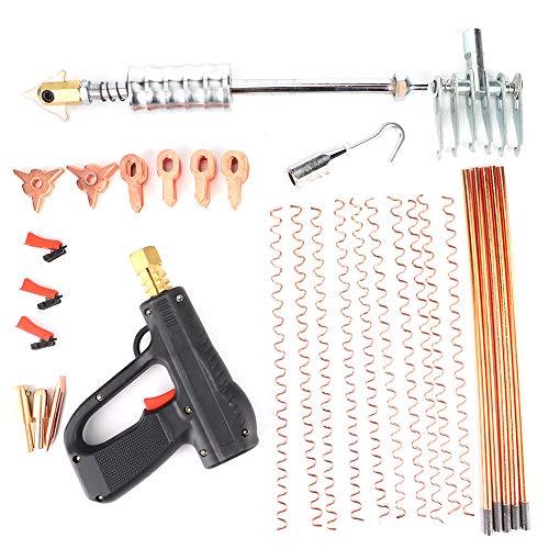 Yctze - Kit de soldador de pernos para extracción de abolladuras, dispositivo de reparación de puntos para automóviles, herramienta para pistola de martillo de soldadura de pernos, adecuada para camio