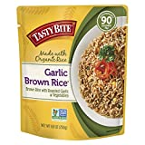 Tasty Bite Brown Rice Garlic 8.8 Ounce (Pack of 6), Whole Grain Garlic Brown Rice, Fully Cooked, Ready to Serve, Microwaveable, Vegan Gluten-Free No Preservatives